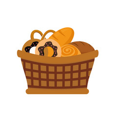 bakery goods basket vector image