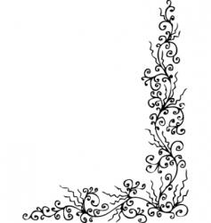 baroque pattern vector image
