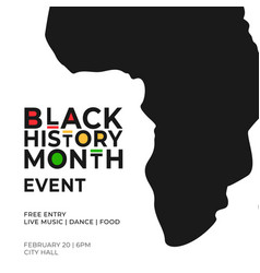Black history month event poster template vector