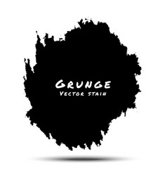 Black Watercolor Grunge Splatter vector