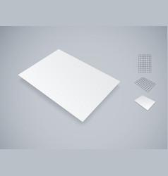 Blank white paper sheet mockup vector