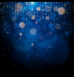 blurred bokeh light on dark blue background vector image