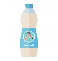 Bottle of Goat Milk Flat Style vector image