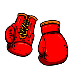 boxing gloves design elements for logo label sign vector image