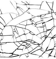 Broken glass texture cracked mirror pattern vector