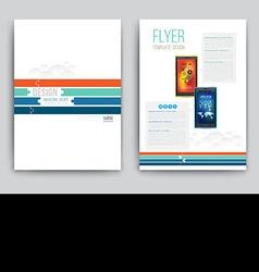 Business Brochure template with smartphones vector image