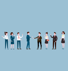 business people meeting teamwork or brainstorming vector image