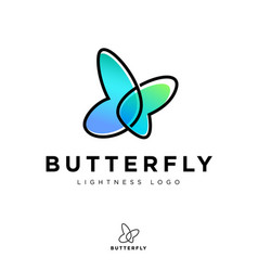 Butterfly logo transparent elements lightness vector