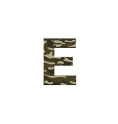 camouflage logo letter e vector image