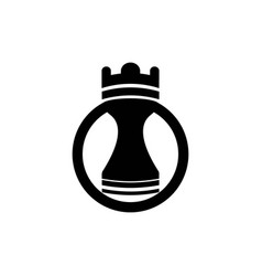 chess piece icon isolated on white background vector image