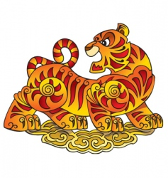 Chinese tiger vector image