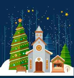 christmas and new year card christmas banner vector image