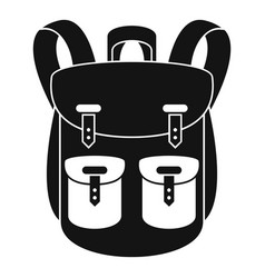 climbing backpack icon simple style vector image