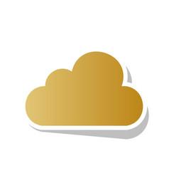 cloud sign golden gradient vector image