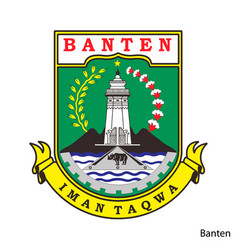 Coat arms banten is a indonesian region vector