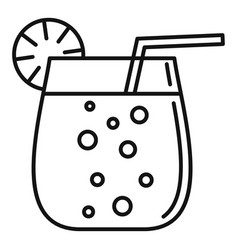 Cocktail glass icon outline style vector