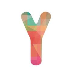 Colorful alphabet Y vector