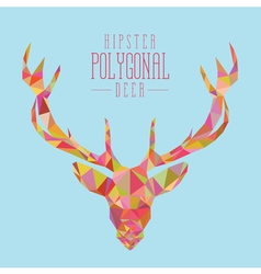 Colourful hipster deer head vector image