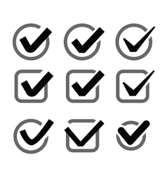 Confirm icon vector