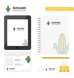 corn business logo tab app diary pvc employee vector image