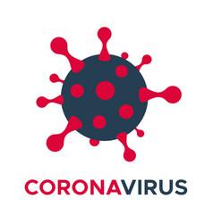 Coronavirus molecule cell icon flat vector