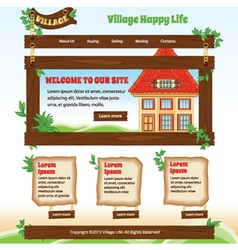 Country web template vector