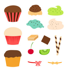 Cupcake makers set vector
