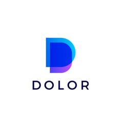 d letter gradient logo icon vector image