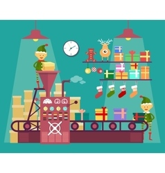 Elves make Christmas and New Year gifts vetor vector