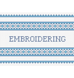Embroidering vector image