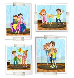 Family photos vector