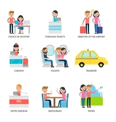 Family Vacation Infographic Concept vector