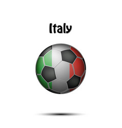 flag of italy in the form of a soccer ball vector image