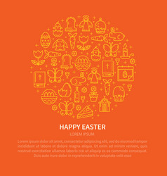 flyer icons easter vector image