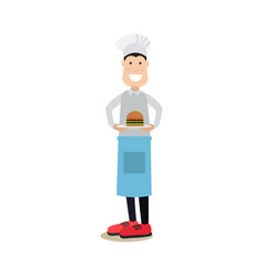 food people concept in flat vector image