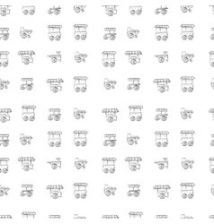 Food trolley sketch pattern vector