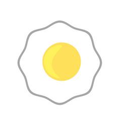 fried egg breakfast image vector image