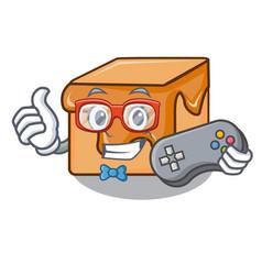 gamer caramel candies mascot cartoon vector image