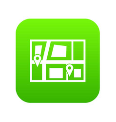 Geo location of taxi icon digital green vector