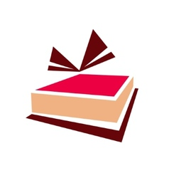 Gift cake sign vector