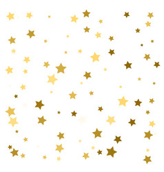 Golden stars confetti abstract background with vector