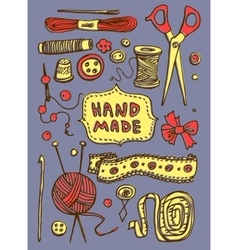hand made stuff vector image
