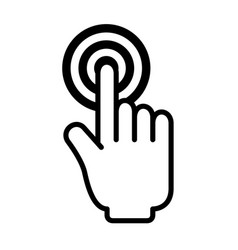 Hand mouse cursor icon vector