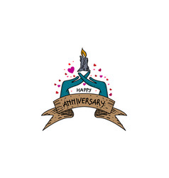 happy anniversary template vector image
