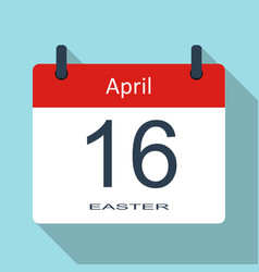happy easter day april 16th flat daily ca vector image
