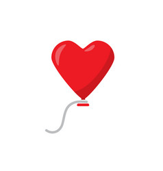 heart balloon flat on white background vector image