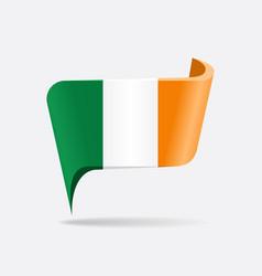 irish flag map pointer layout vector image