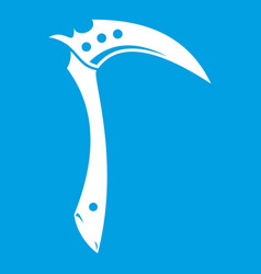kama weapon icon white vector image