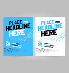 layout design template for sport event vector image