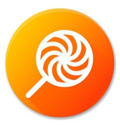lollipop orange circle icon design vector image